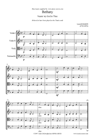 Nearer my God to Thee (Bethany version for string quartet), Lowell Mason, 1859